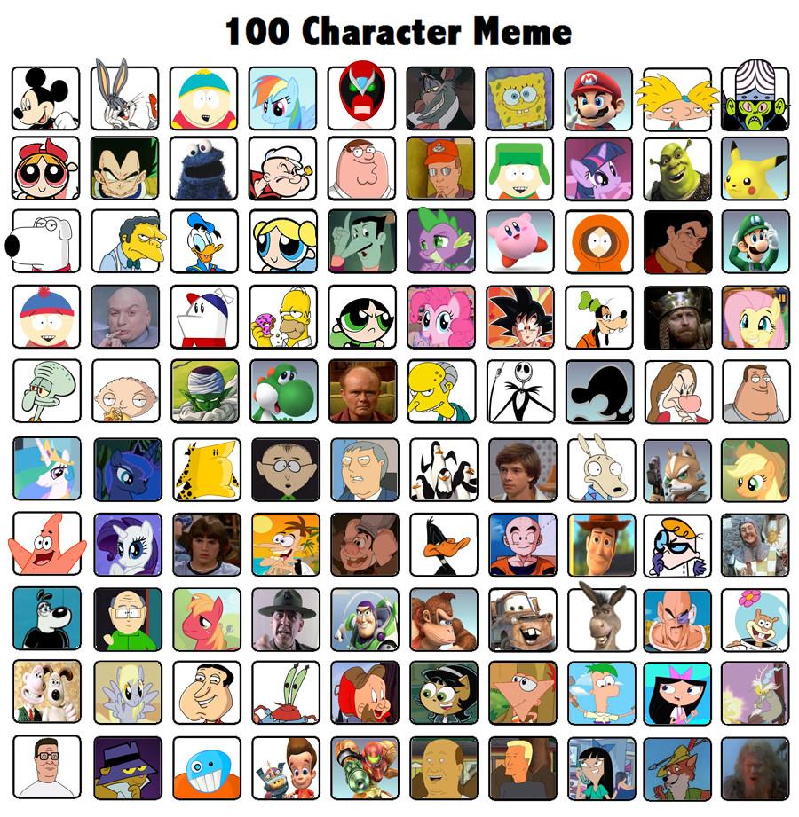 iamsosmrt63's 100 Character Meme by iamsosmrt63