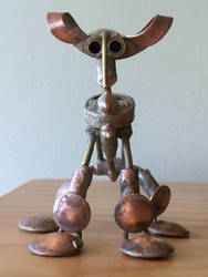 Curl-Eared Quadruped Figurine Front View