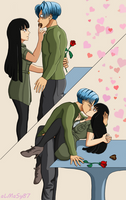 Trunks*Mai - Valentine's day by almasy87