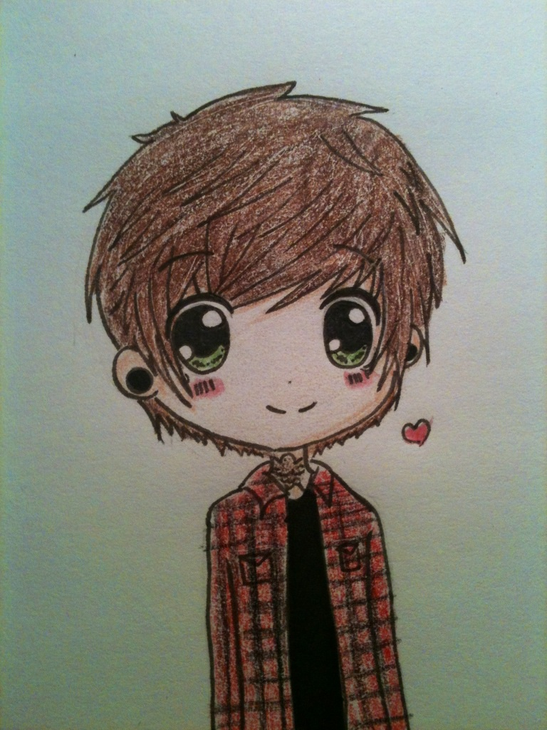 Little doodle of Chris drew c: by cascadeofstars on DeviantArt