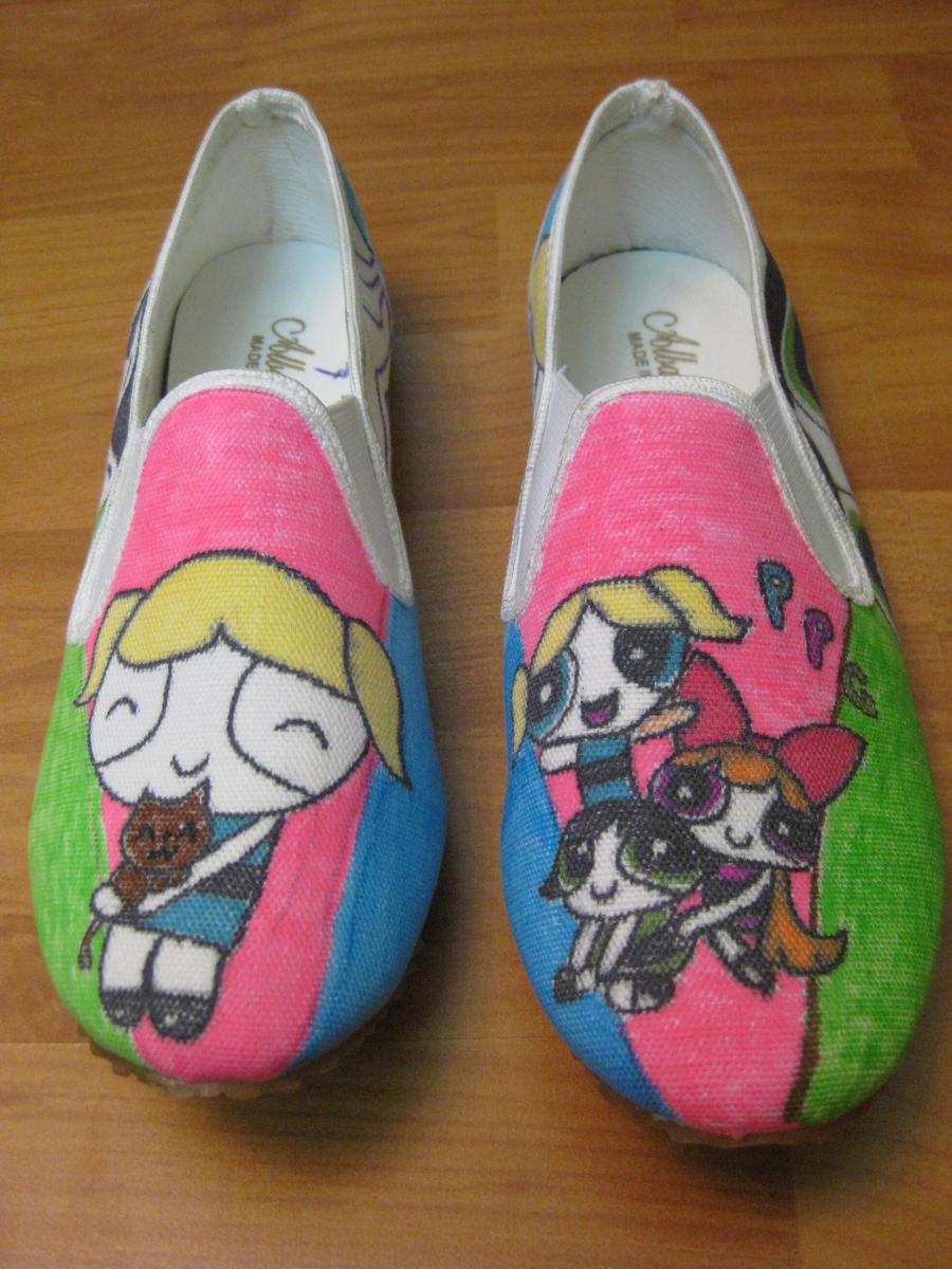 Powerpuff girls shoes by RaZero0