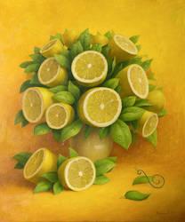 Lemon bouquet with snail