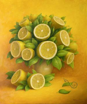 Lemon bouquet with snail by VitUrzh