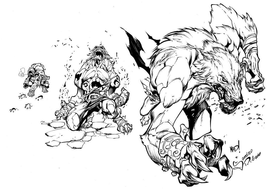 Werewolf Nigthwar Battle Chaser by Sandrotrs
