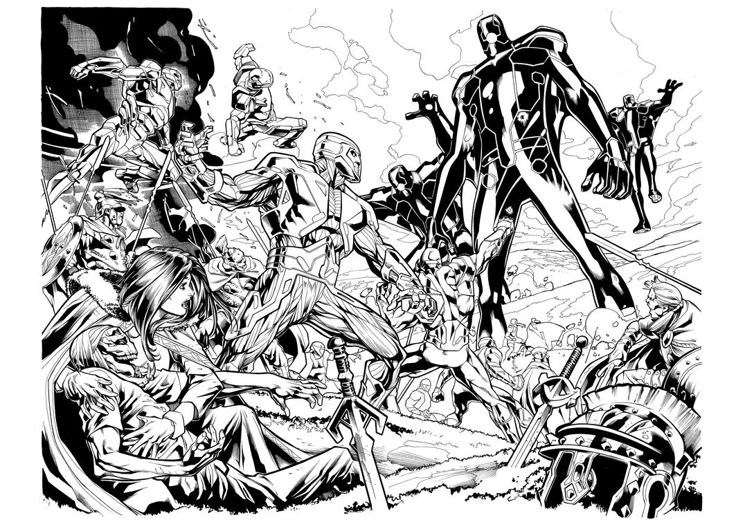 X-O MANOWAR # 47 PAGE # 02-03-inker-SandroRibeiro- by Sandrotrs