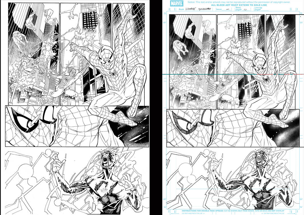 Ultimade spiderman 02 inker Low Sample by Sandrotrs