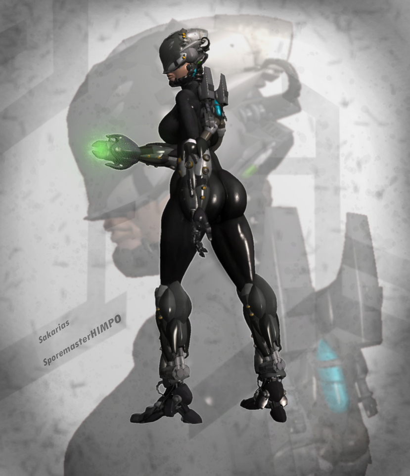 Cyberpunk Babe by SporemasterHIMPO