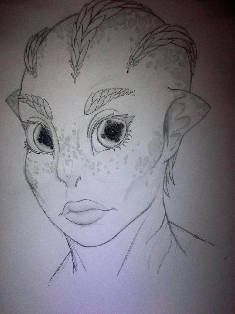 Alien chick sketch... by SporemasterHIMPO