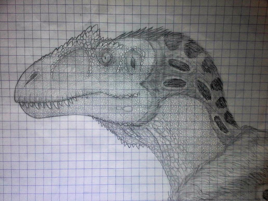 Allosaurus sketch by SporemasterHIMPO