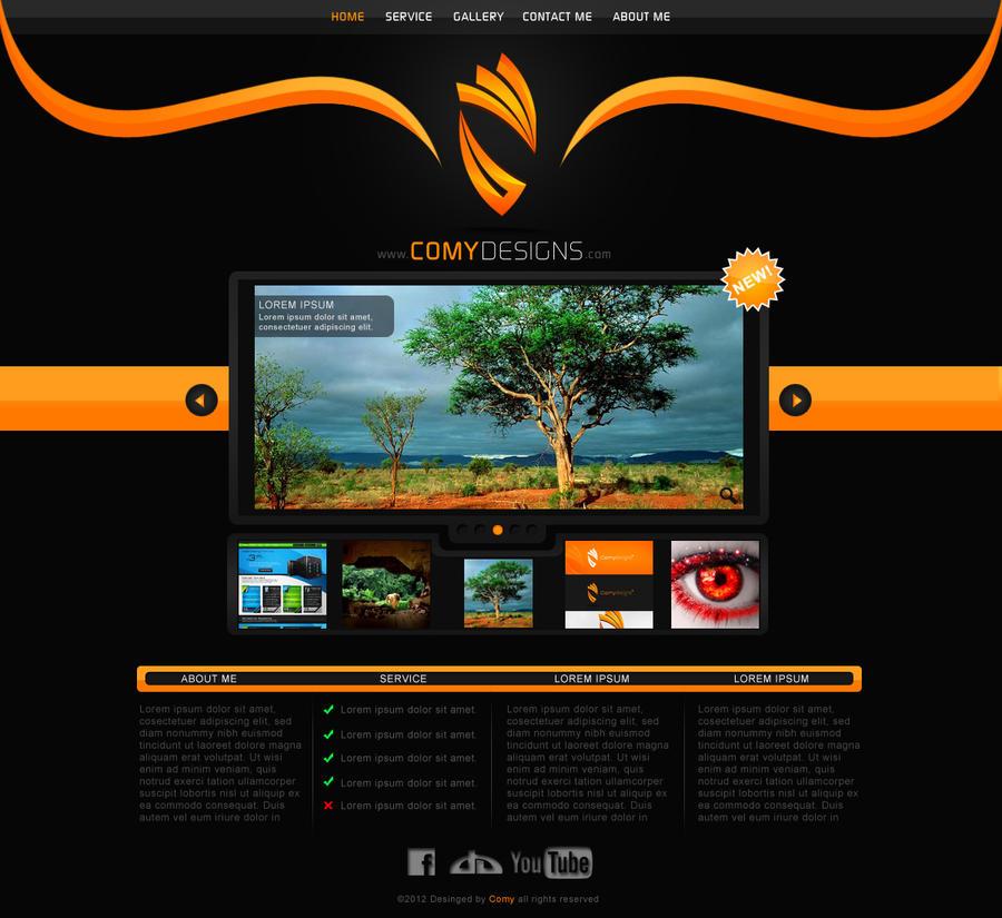 comy designs portfolio website design by comydesigns on