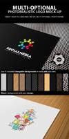 Multi-Optional Photorealistic Logo Mock-Up by ComyDesigns