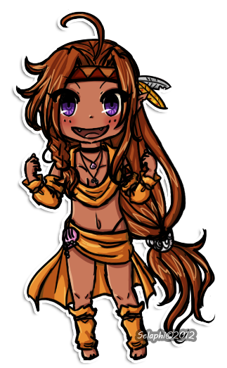 Chibi Island Girl by Selaphi