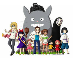 Happy Birthday w/ Studio Ghibli! - Commission by Selaphi