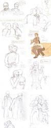 Holmes Watson Sketches by P-JoArt