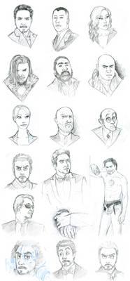 Iron Man - movie charas sketch