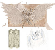 Castiel+Balthazar Art Exchange by P-JoArt