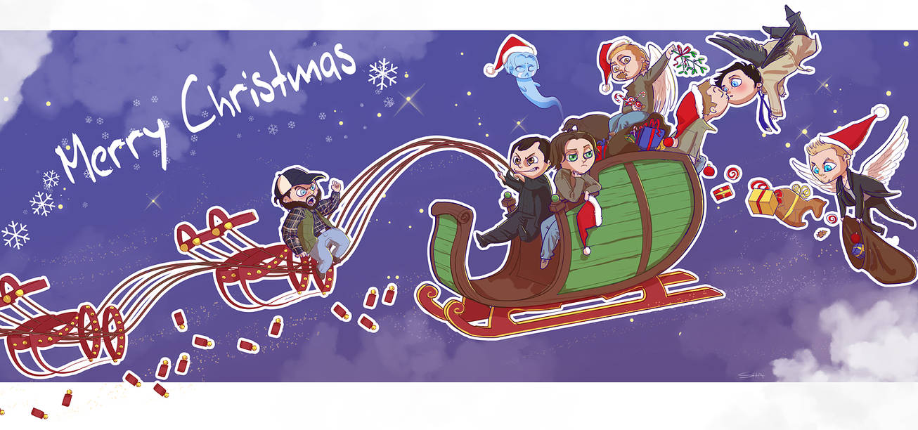 Christmas Ride by P-JoArt