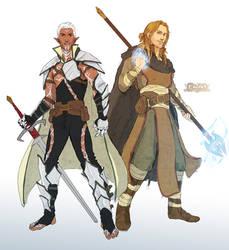 Anders and Fenris - redesign by P-JoArt