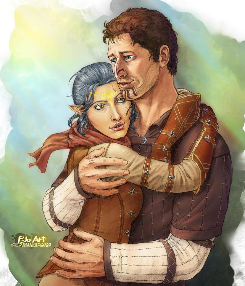 DAI: Indira and Rylen by P-JoArt
