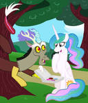 Discord And Celestia Donut Park Date by mr100dragon100