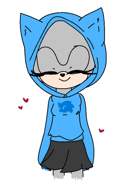 Sonic Hoodie Base by BillieDoodlez on DeviantArt Anime Female Base With Hoodie