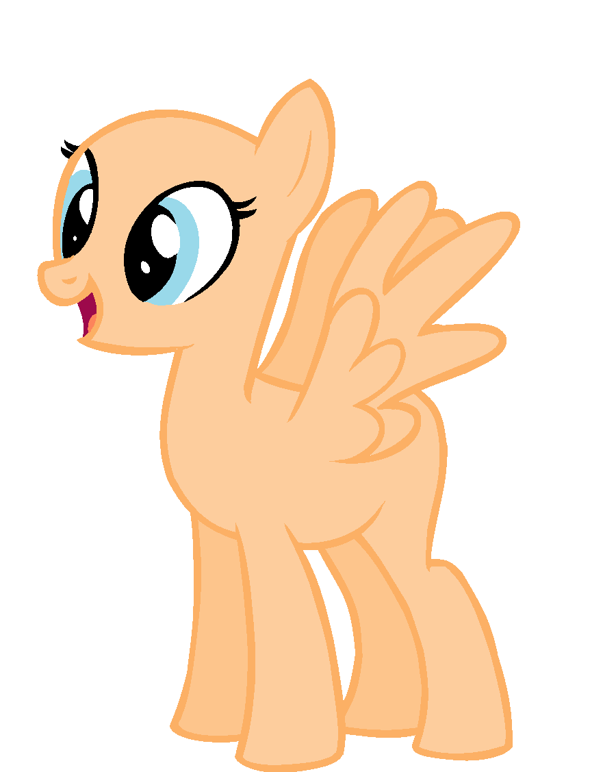 my little pony base pegasus filly wwwpixsharkcom