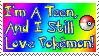 I love Pokemon: Stamp by Katze-Cat-KuroNeko
