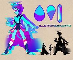 Blue Rainbow Quartz by GLiTCH-R