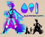Blue Rainbow Quartz