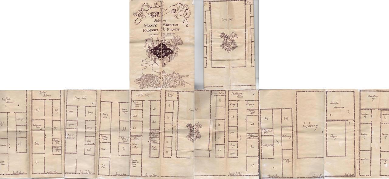 Marauders Map by twinklestarr-chan