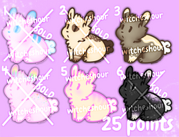 [2/6 OPEN] 25 Point Bunny Adoptables! by WitchesHour