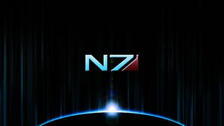 Mass Effect Wallpaper 1 - N7 by RayzorFlash