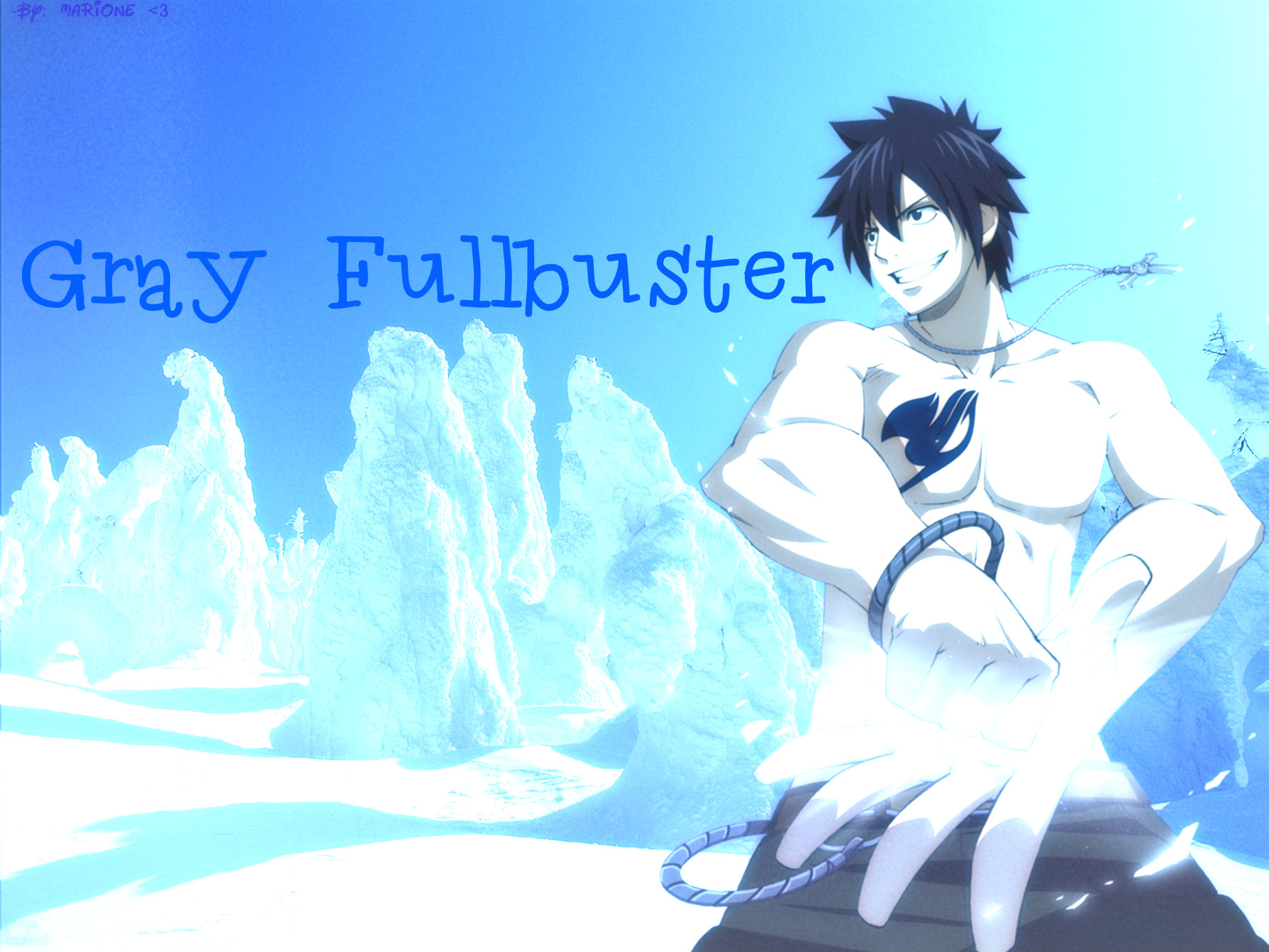 Gray Fullbuster FT Wallpaper (with a banner)
