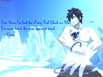 Gray Fullbuster FT Wallpaper (with a quote)
