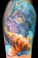 Koi Cover Up After by maximolutztattoo
