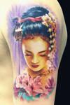 Geisha by maximolutztattoo
