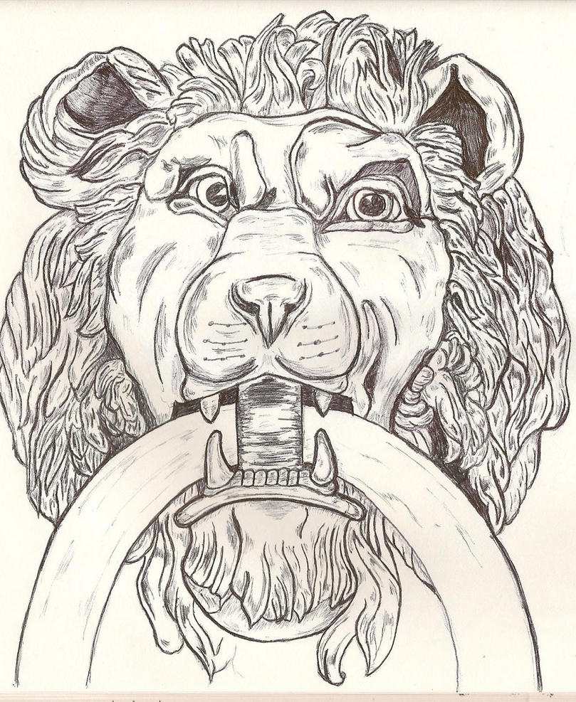 Lion Door Knocker by Grunt88