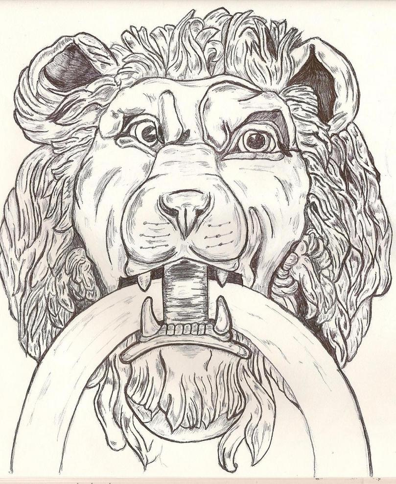 Lion Door Knocker by Grunt88