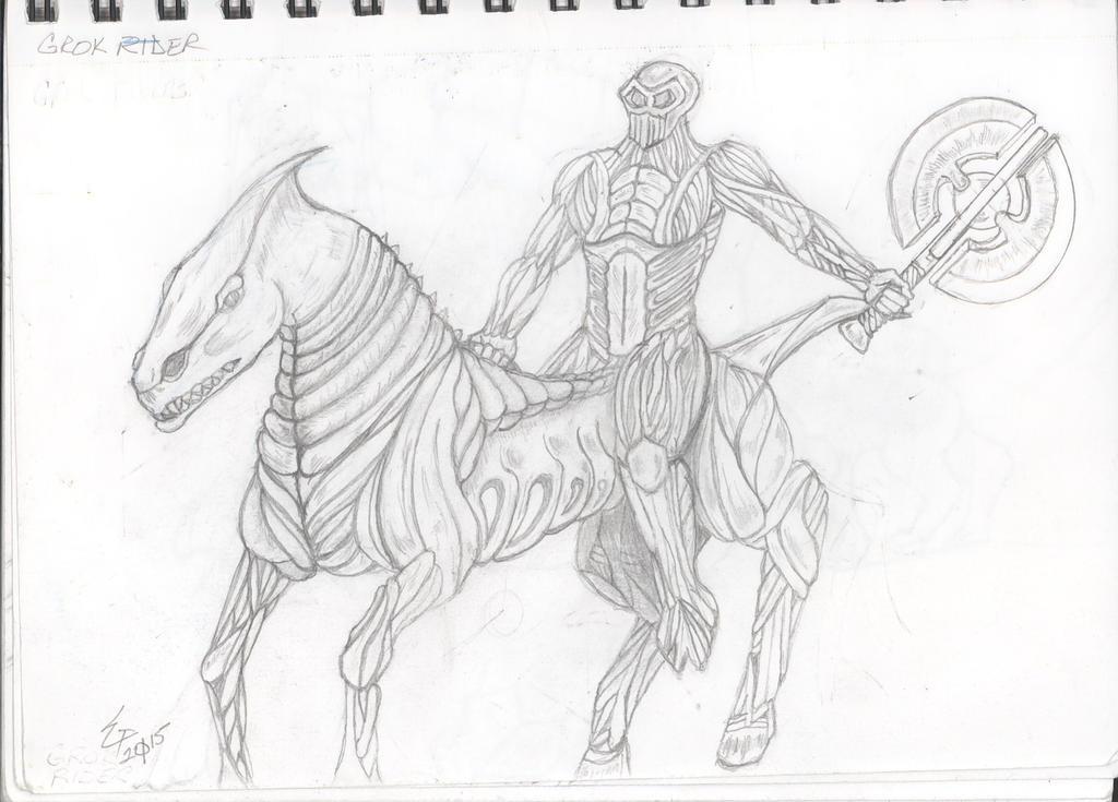 Heroscape-Grok Rider by Grunt88