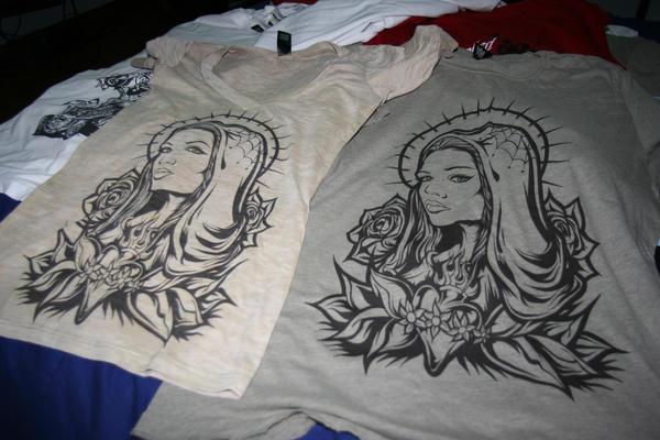 Virgin Mary Tattoo Shirt by SlugabedClothing