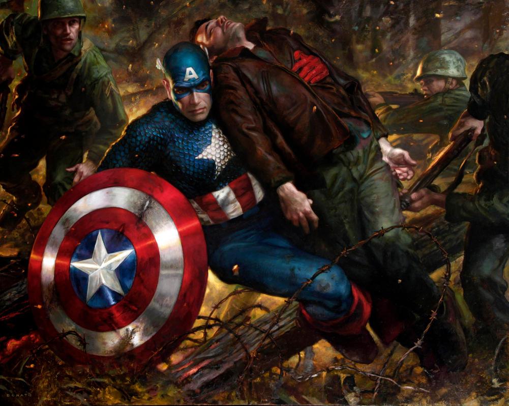 Captain America Shield Oil Painting Art