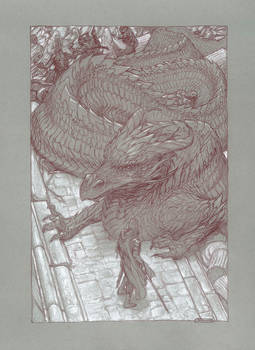 Turin and Glaurung at the Gates of Nargothrond