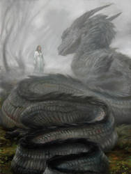 Nienor and Glaurung by DonatoArts