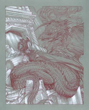 Turgon defending Gondolin by DonatoArts