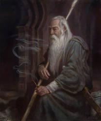 Gandalf in Moria- The Three Doorways