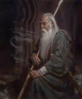 Gandalf in Moria- The Three Doorways by DonatoArts