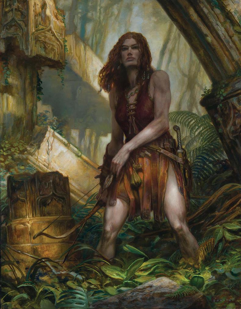 Red Sonya - Archer by DonatoArts