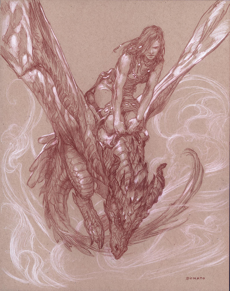 Dragon Rider by DonatoArts