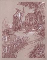 Good Morning! - Gandalf and Bilbo by DonatoArts