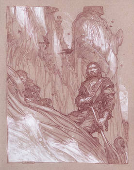 Boromir and the Statues of the Argonath